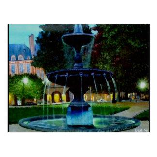 Fuente luminosa tarjetas postales