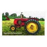 Fuente o tienda rural de la granja del tractor del tarjetas personales