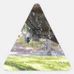 Fuente Pegatina Triangular