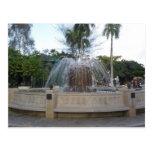 Fuente Plaza de Caguas Tarjeta Postal