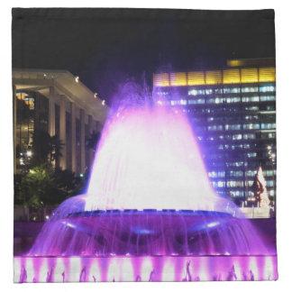 Fuente púrpura servilletas