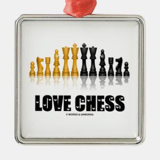 Fuente reflexiva de las letras de amor del juego adorno para reyes