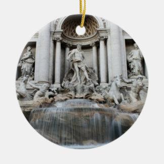 Fuente Roma del Trevi Adorno Redondo De Cerámica