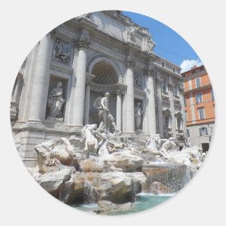 Fuente Roma del Trevi Etiqueta Redonda