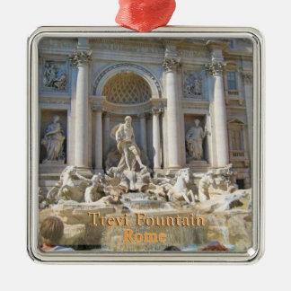 Fuente Roma Italia del Trevi Adorno Navideño Cuadrado De Metal