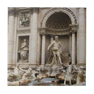 Fuente ROMA, ITALIA del Trevi Azulejo Cuadrado Pequeño