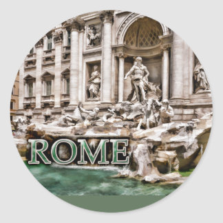 Fuente Roma Italia del Trevi Pegatinas Redondas