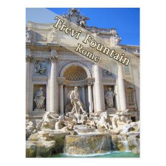 Fuente Roma Italia del Trevi Postal
