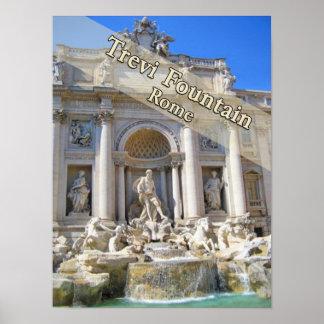 Fuente Roma Italia del Trevi Póster