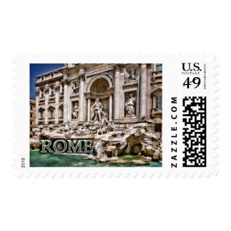 Fuente Roma Italia del Trevi Franqueo