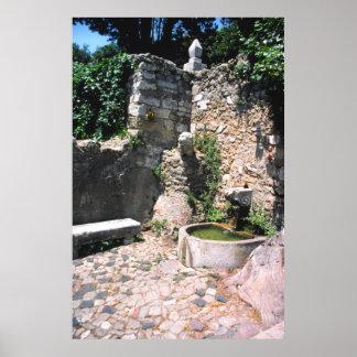 Fuente romana, Castello San Jorge, Alfama, Portu Póster