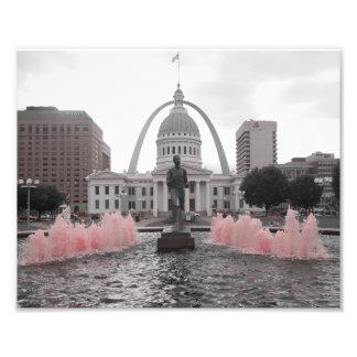Fuente rosada fotografía