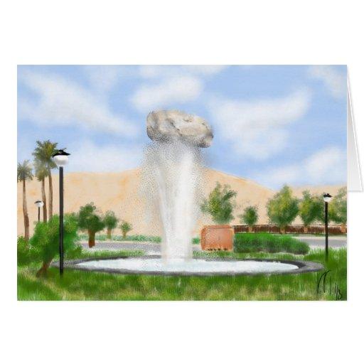 Fuente Shiraz de la roca de Irán Tarjeta De Felicitación