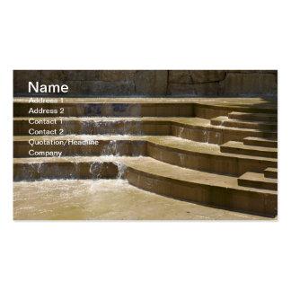 fuente simple al aire libre tarjetas personales