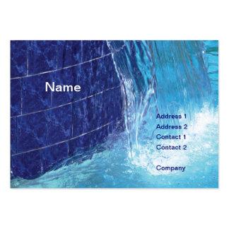 fuente tejada azul al aire libre de la piscina plantillas de tarjetas de visita