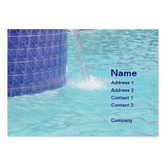 fuente tejada de la piscina tarjeta de negocio