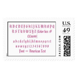 Fuente = texto americano sello