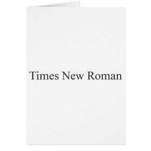 FUENTE - Times New Roman Tarjeta De Felicitación