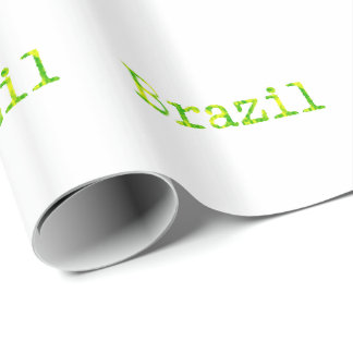 Fuente verde y amarilla del Brasil Papel De Regalo