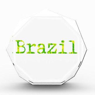 Fuente verde y amarilla del Brasil