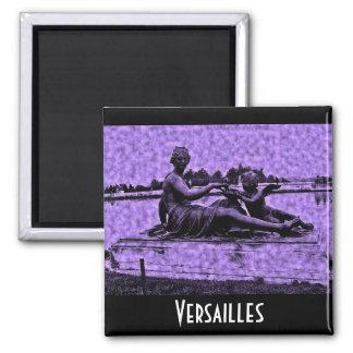 Fuente vieja de Versalles de la foto Imán Cuadrado