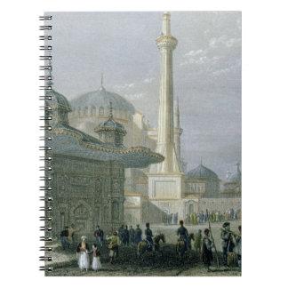 Fuente y cuadrado de St. Sophia, Estambul, engra Libro De Apuntes