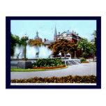 Fuente y templo de los alces, vintage 1913 de postal
