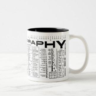 Fuente yo tipografía tazas de café