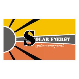 Fuentes alternativas solares/del sol de la tarjetas de visita
