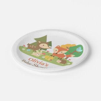 Fuentes animales del fiesta de fiesta de plato de papel de 7 pulgadas