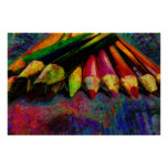 Fuentes coloreadas del arte de los lápices impresiones