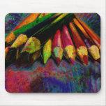 Fuentes coloreadas del arte de los lápices alfombrillas de ratón