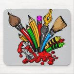 Fuentes coloridas del arte alfombrilla de ratón