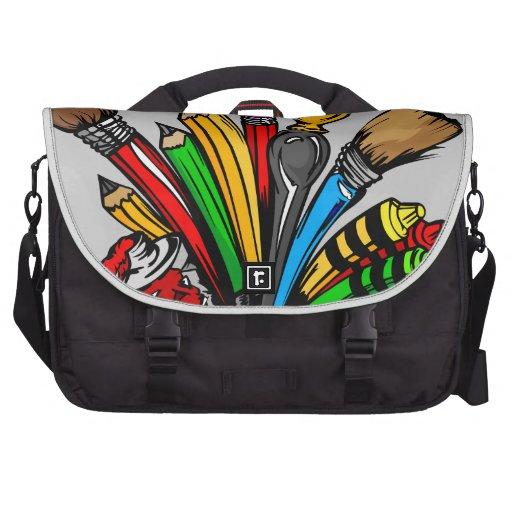 Fuentes coloridas del arte bolsas de portátil