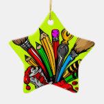 Fuentes coloridas del arte ornamentos para reyes magos