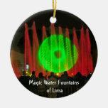 Fuentes de agua mágicas de Lima, Perú Ornamentos De Reyes