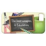 Fuentes de escuela iPhone 5 funda
