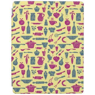 Fuentes de la cocina cubierta de iPad