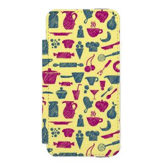 Fuentes de la cocina funda billetera para iPhone 5 watson