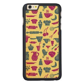 Fuentes de la cocina funda de arce carved® para iPhone 6 plus slim