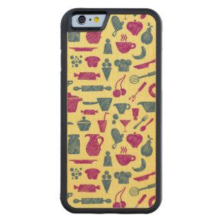 Fuentes de la cocina funda de iPhone 6 bumper arce