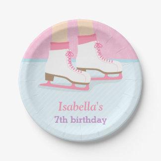 Fuentes de la fiesta de cumpleaños de los chicas plato de papel de 7 pulgadas