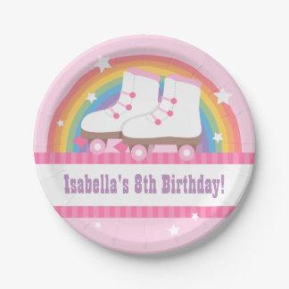 Fuentes de la fiesta de cumpleaños del patinaje platos de papel