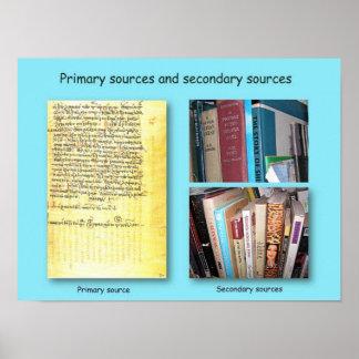 Fuentes de la historia, primarias y secundarias póster