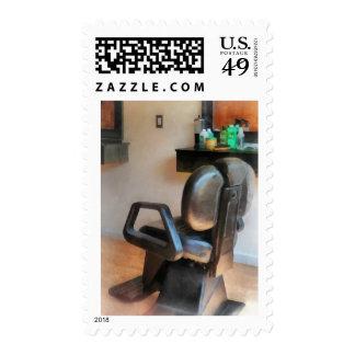 Fuentes de la silla y del pelo de peluquero timbre postal