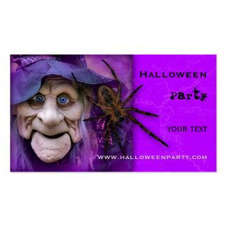Fuentes del fiesta de Halloween o tarjeta de Plantilla De Tarjeta Personal