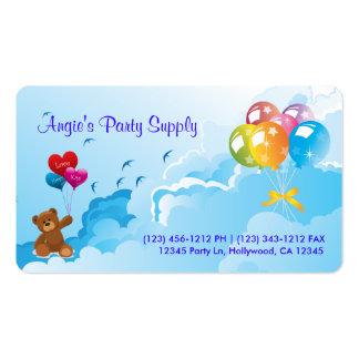 Fuentes del fiesta de la diversión tarjetas de visita