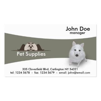 Fuentes del mascota tarjetas de visita