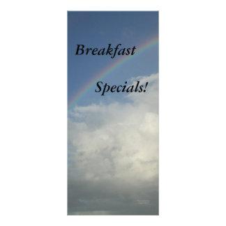 Fuentes del restaurante, Specials del desayuno, ar Lonas Personalizadas
