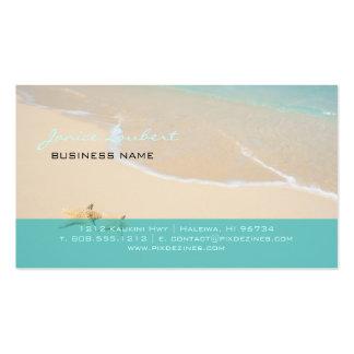 Fuentes hawaianas de PixDezines Beach/DIY Plantilla De Tarjeta De Visita